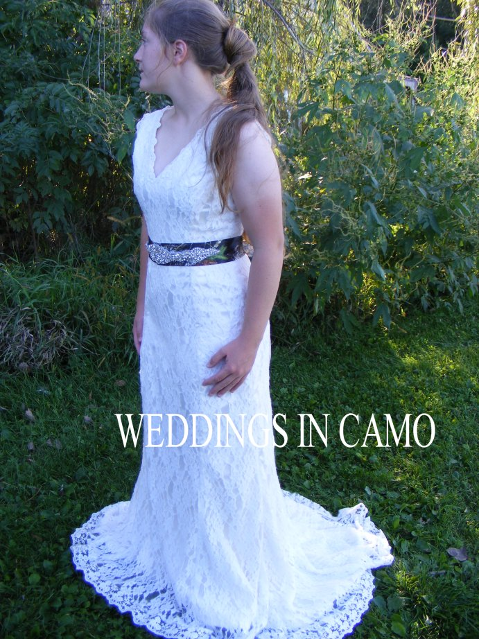lace fit n flare with camo sash